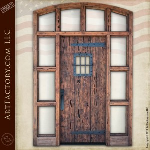 rustic weathered castle door