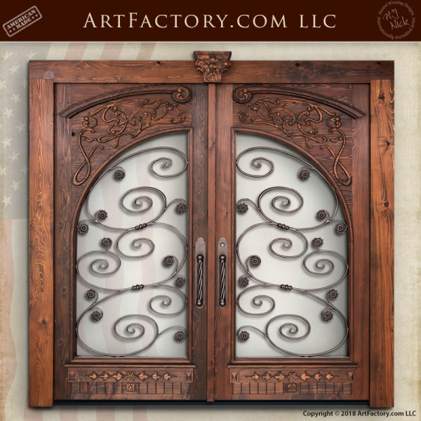 Art Nouveau Double Doors