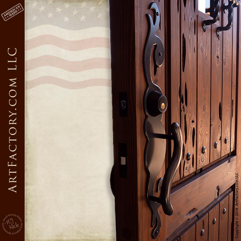 custom Art Nouveau door handle