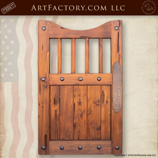 custom swinging saloon door