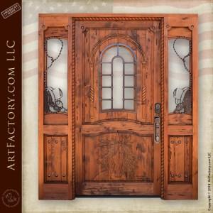 western grand entrance door