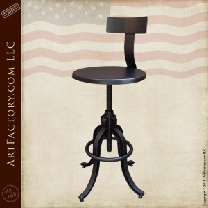 Industrial Iron Bar Stools