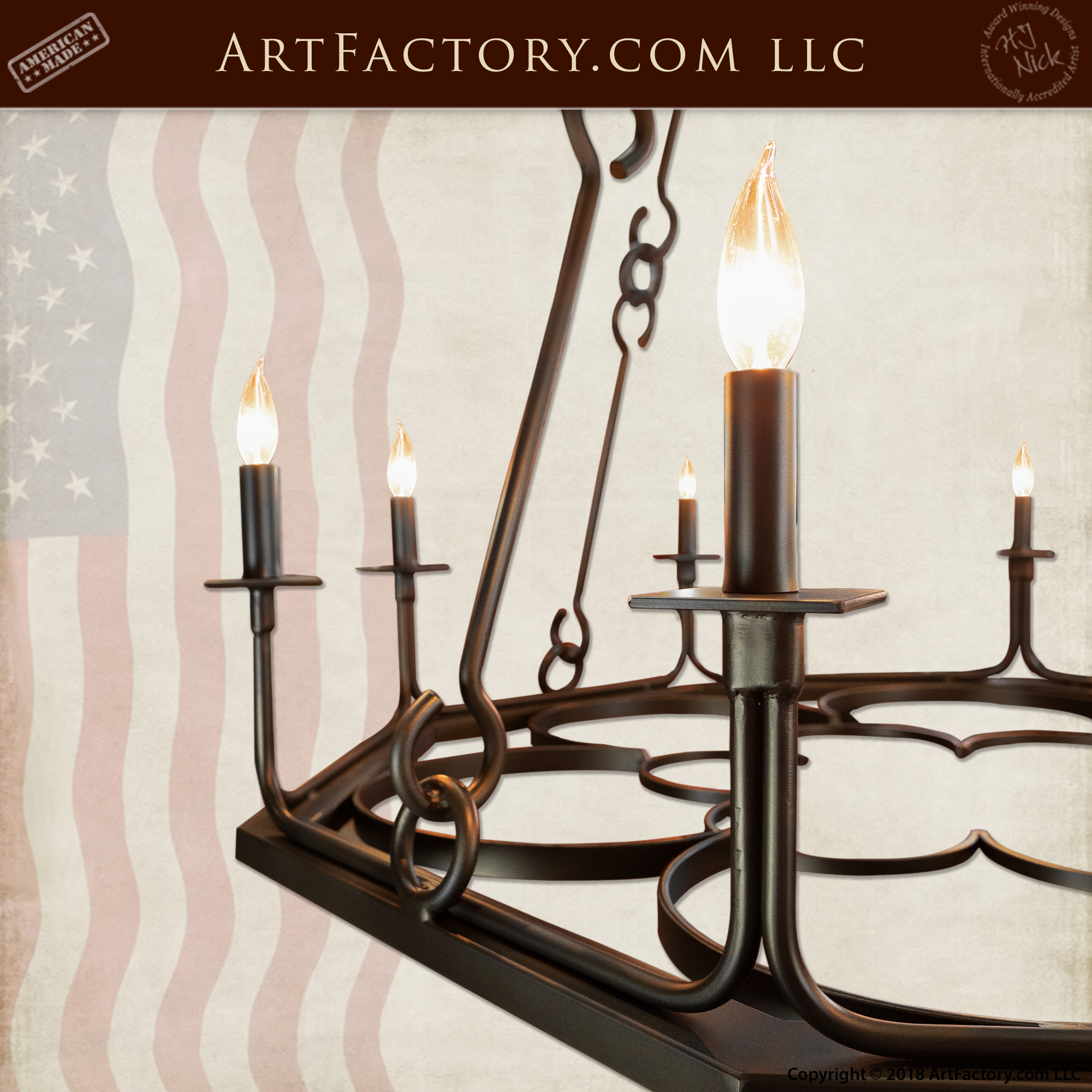 Custom Gothic Candle Chandelier