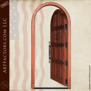 Arch Door with Speakeasy Grill
