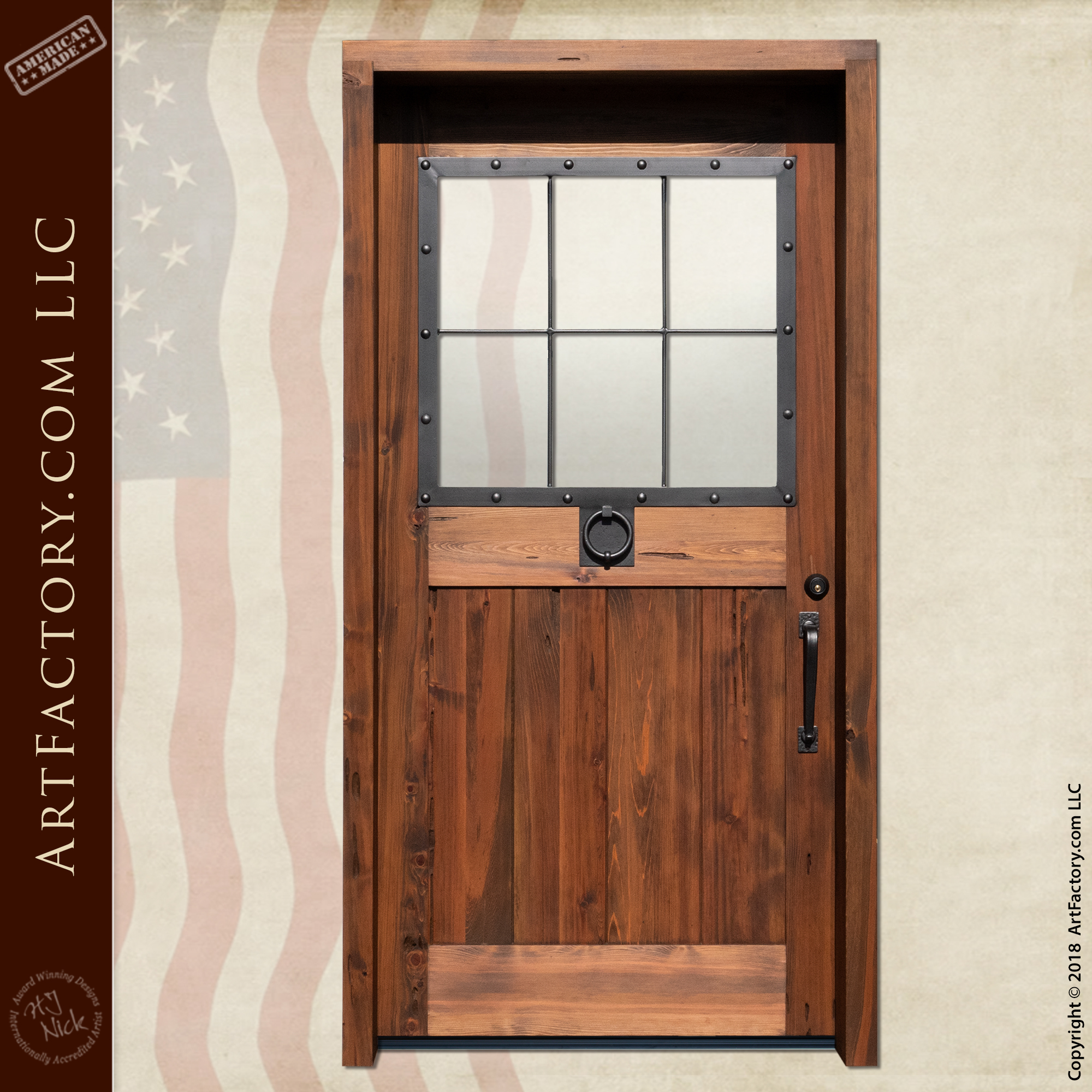 custom colonial wooden door