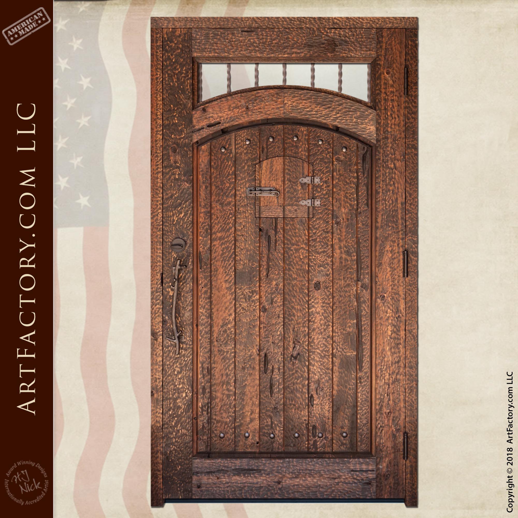 Rustic Cabin Entrance Door