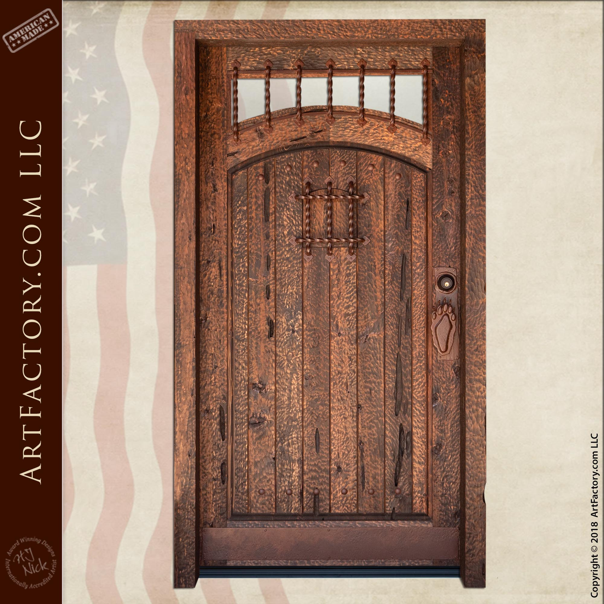 Rustic Cabin Entrance Door