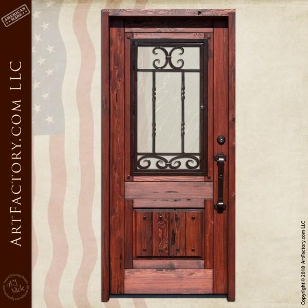 half lite wooden door