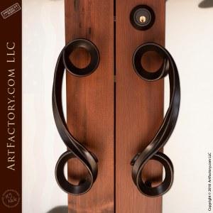 Art Nouveau Hand Carved Door