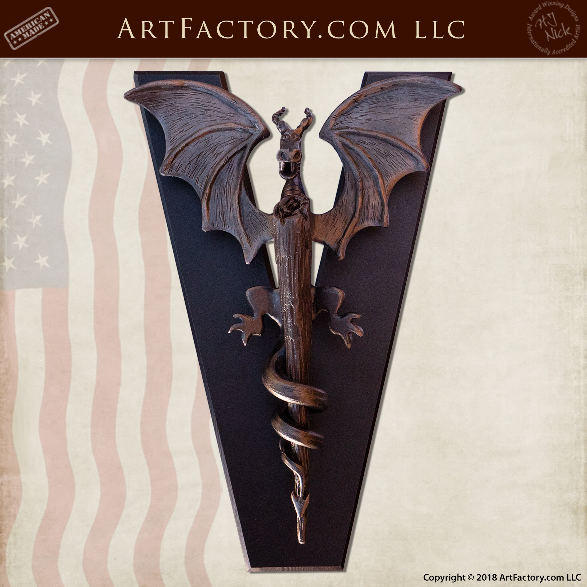 custom dragon door knocker