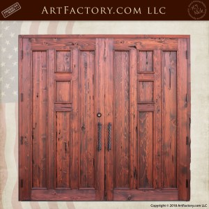 Craftsman Wood Panel Double Doors