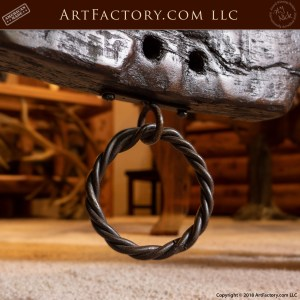 Hand Carved Oxen Yoke and Trestle Sofa Table