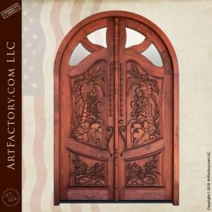Polynesian Art Nouveau Door