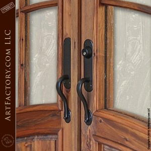 Art Nouveau Custom Iron Door Pulls