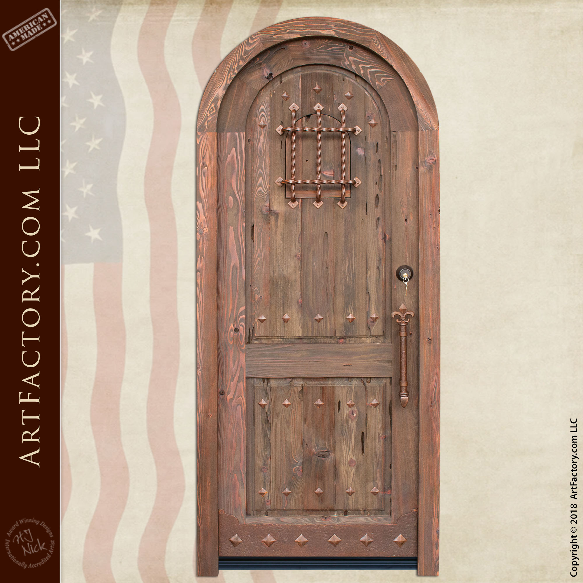 custom medieval arched door