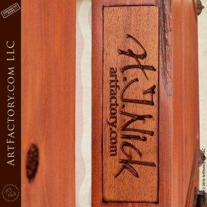 H.J. Nick signature plaque