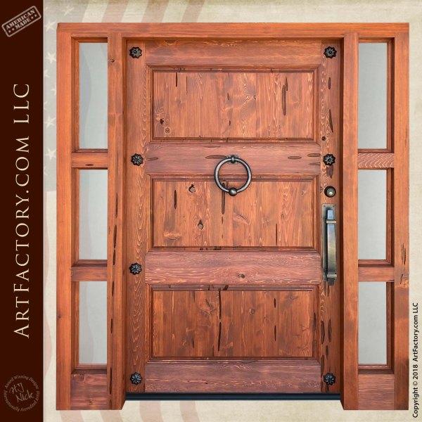 Custom 3 Panel Wooden Door