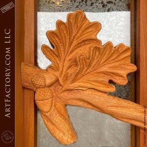 detailed hand carved leaf