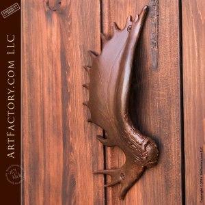 moose antler door handle