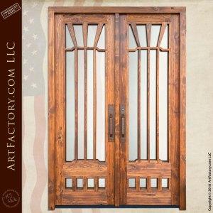 custom Gamble House Double doors front facing