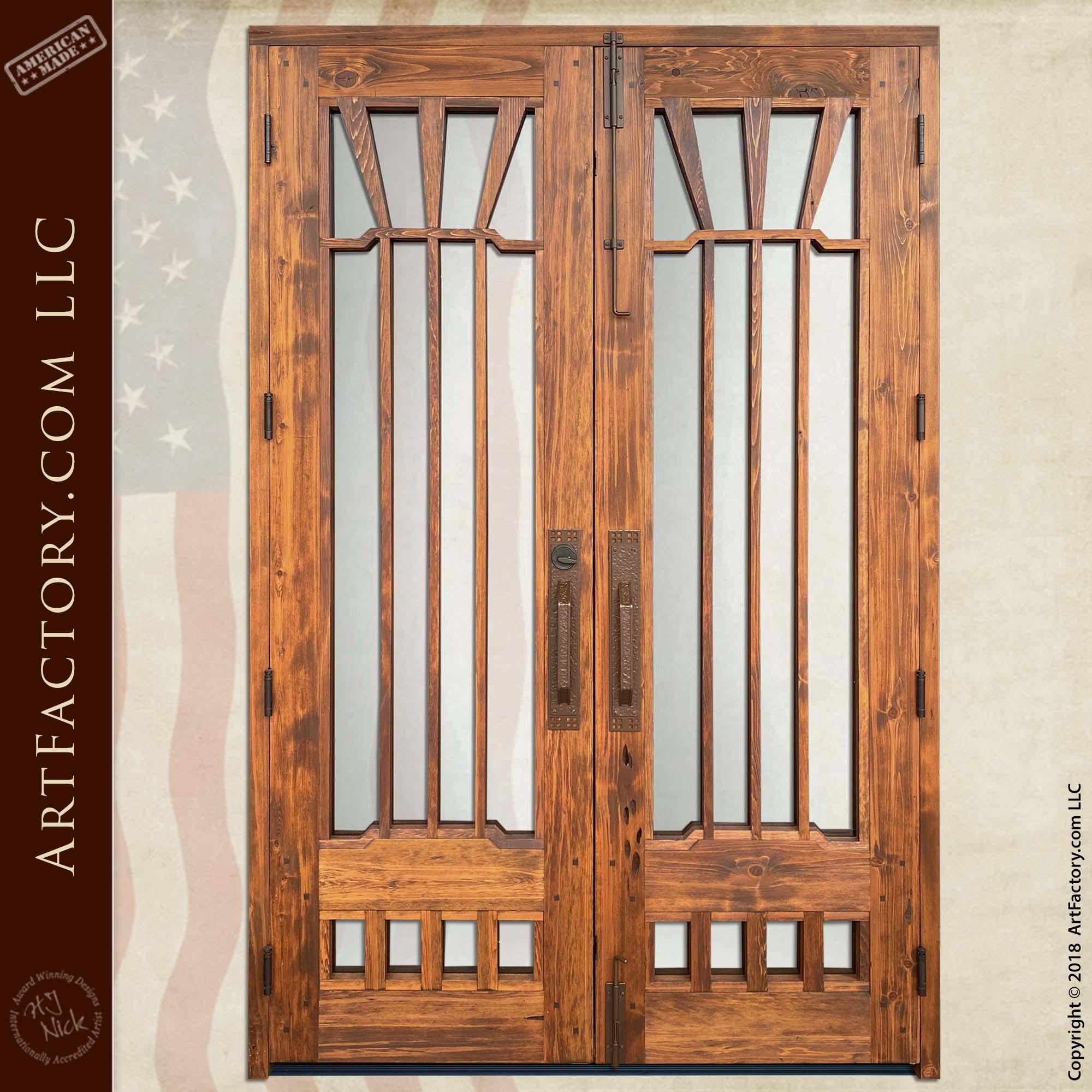 custom Gamble House Double doors rear facing