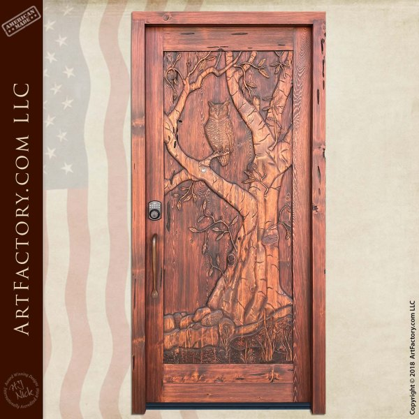 Custom Hand Carved Door