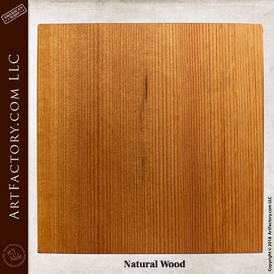 Natural Wood stain sample