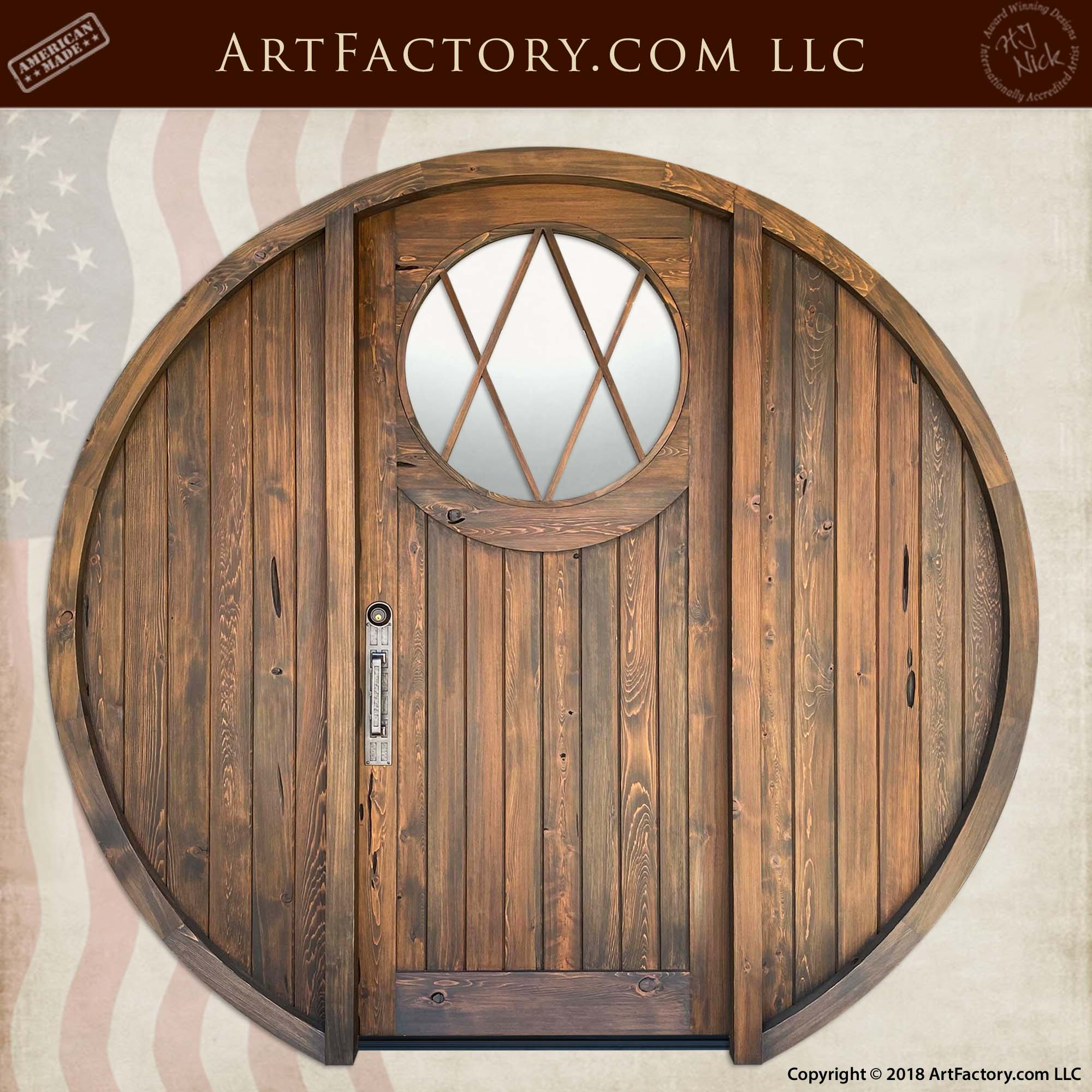 Custom Round Hobbit Door