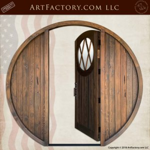Custom Round Hobbit Door open position