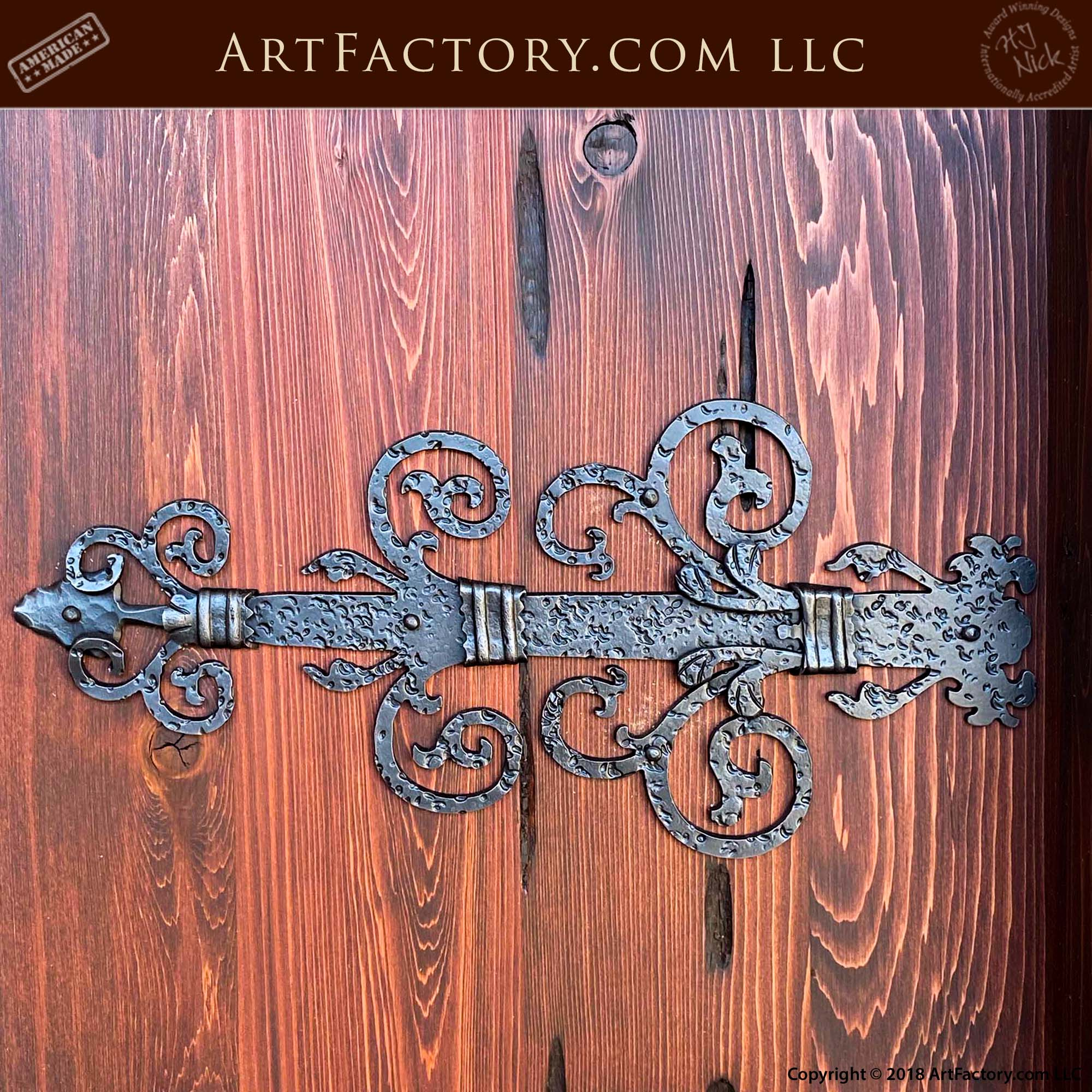 Decorative Hand Forged Iron Straps