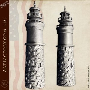 Custom Iron Lighthouse Door Pulls