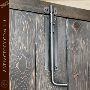 Solid Wood Vertical-Planked Doors with Custom Windows