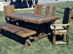 Dining Table - Custom Made Rustic Tables - CFT340
