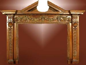 Historic Design 15th Cen Fire Place Mantel  - FPM01109