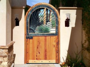 Custom Wrought Iron Sun Burst Gate - 1346WI