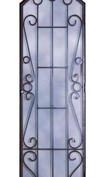 Elegant Door Grill Insert, Hand Forged Wrought Iron -  GR1312