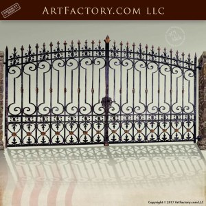 Iron Double Entrance Gates Old Castle Germany - 1354WI