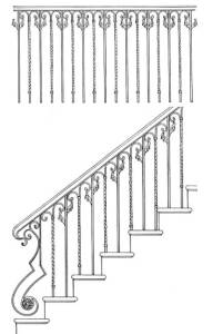 Stair Railing Designs ISR601