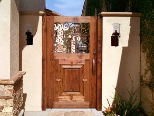 Custom Wood Gate Entrance Garden Gates Estate Gates
