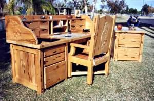 Custom Secretary Desk Furniture - Wood - CBD662