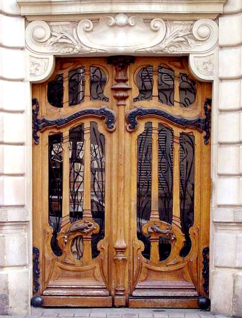 Art Nouveau Door - French 19th Cen - HRD555 ... : doors art nouveau - pezcame.com