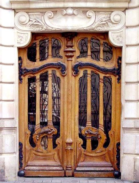 Art Nouveau Door French 19th Cen