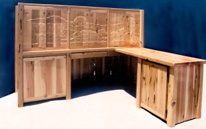 Reception Desk - Custom Secretarial With Storage  -  CBOD698