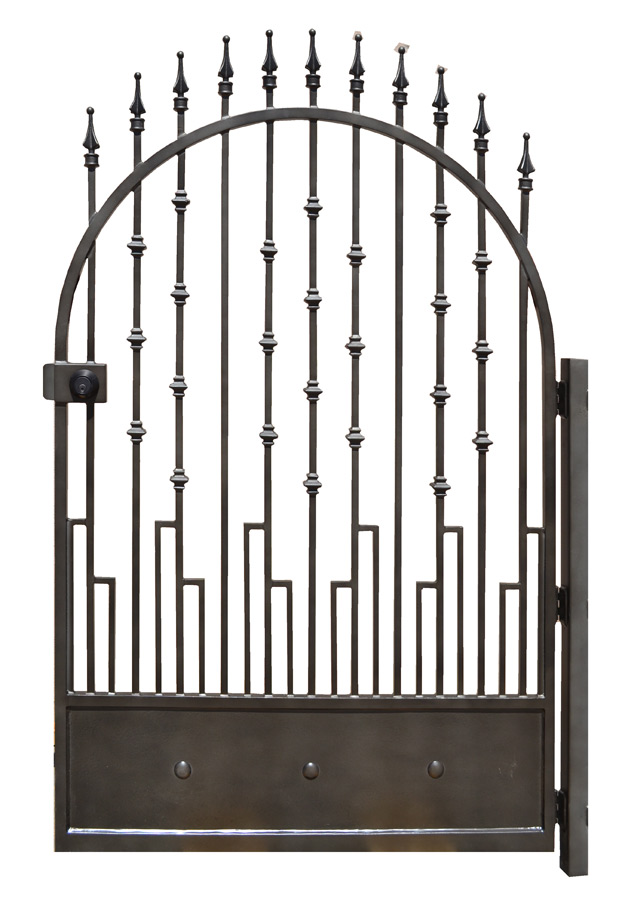 Designer Door Knockers Custom Wrought Iron Gates - Arched Entrance Gates