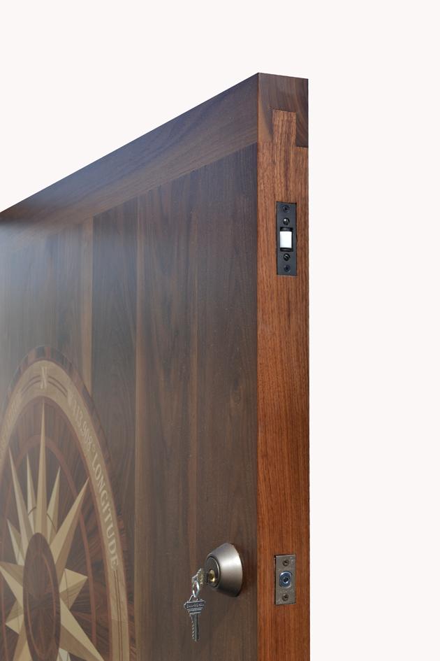 nautical kitchen hardware shelving unit door | solid walnut theme ...