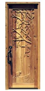 Door - Carved Oak Tree With Wildlife- 2336HC