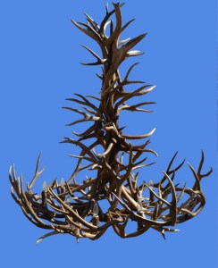 Antler Chandelier With Direct LED Down Light  - AC7519