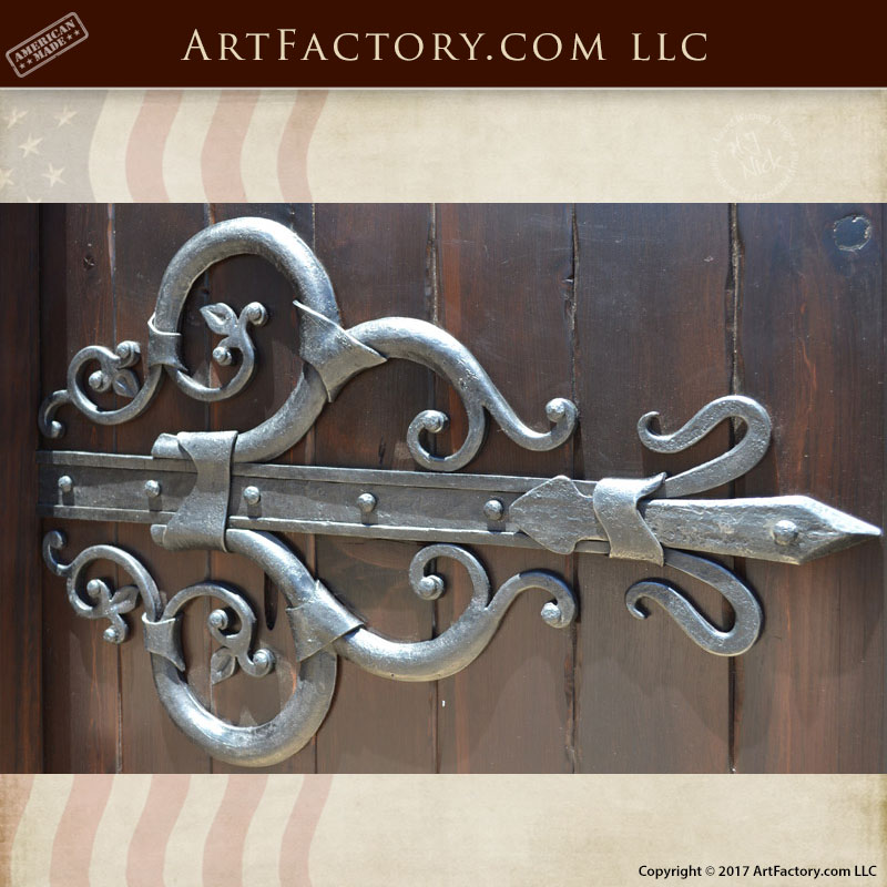 Custom Hinge Hand Forged Solid Wrought Iron - CDH777