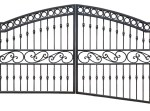 Iron Driveway Gate - Gate Custom Fit To Ground Slope - IDG2033