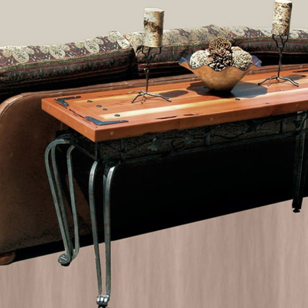Cocktail Tables - Iron Ivy And Exotic Wood Table -  CFLT392